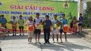 Gải nhất đôi nam nữ - Giải cầu lông CTTĐ Lai Châu